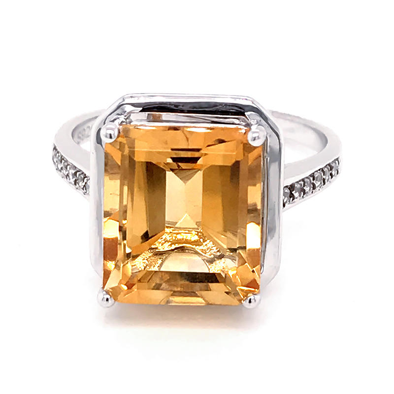 product-BEYALY-925 silver Asscher Cut Cubic Zirconia Halo Ring-img