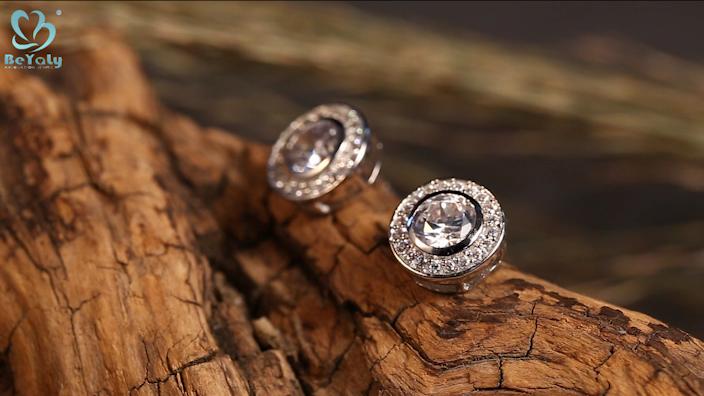 luxury zircon earring