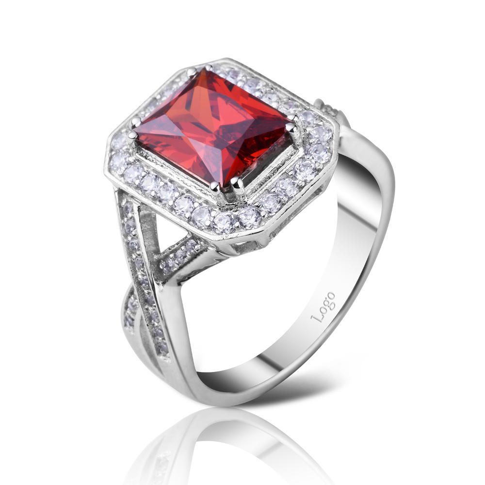 product-BEYALY-Rhodium plating red stone square lots sterling silver rings-img