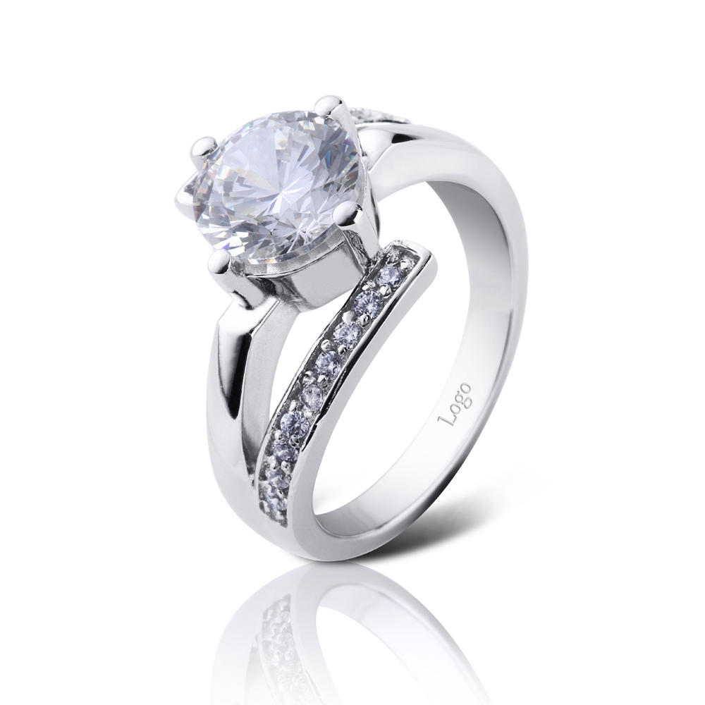 AAA cubic zircon girls white gold plating engagement rings
