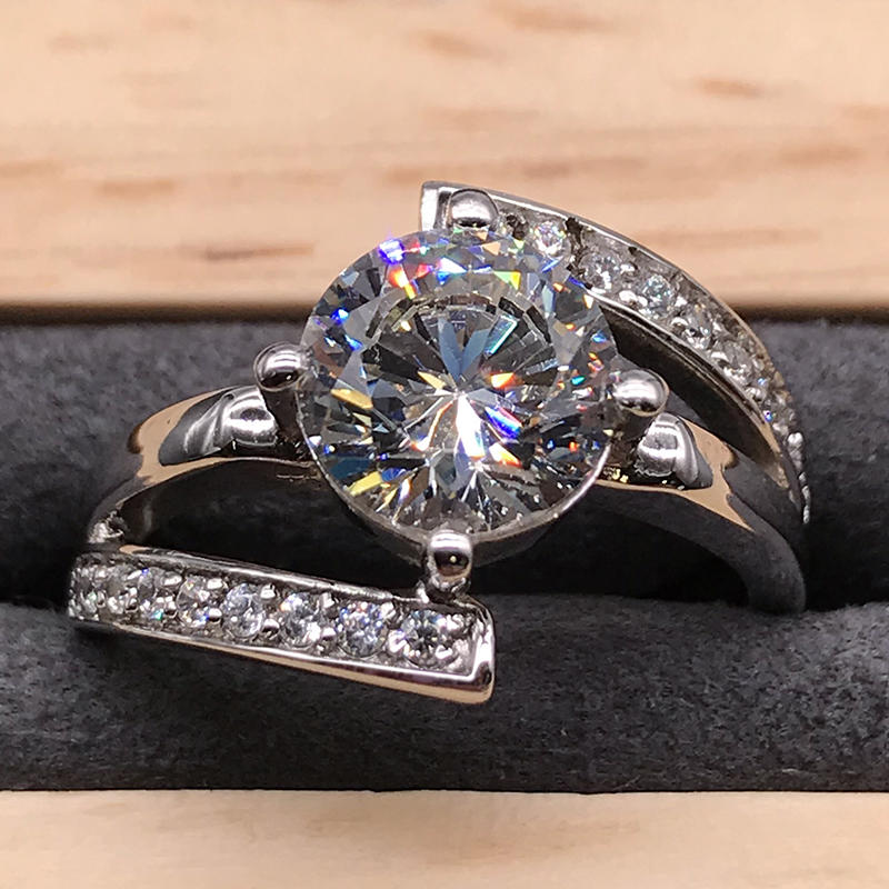 product-AAA cubic zircon girls white gold plating engagement rings-BEYALY-img-1