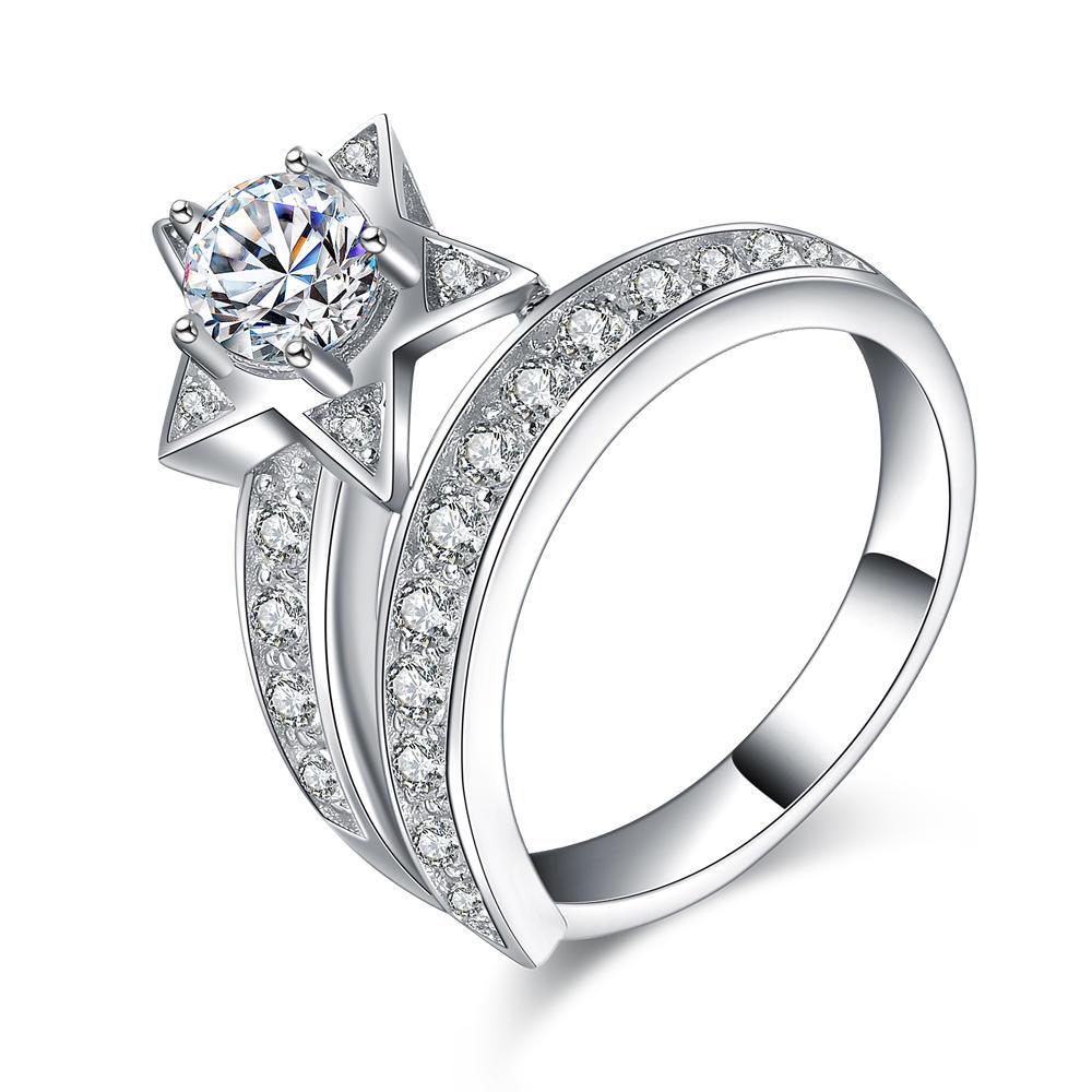 product-BEYALY-Fantastic girls cz star design 925 sterling silver meteor finger rings-img