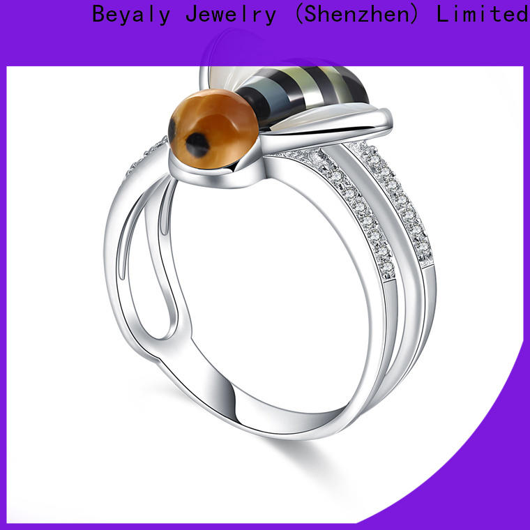 BEYALY inlay popular engagement rings for women manufacturers for daily life