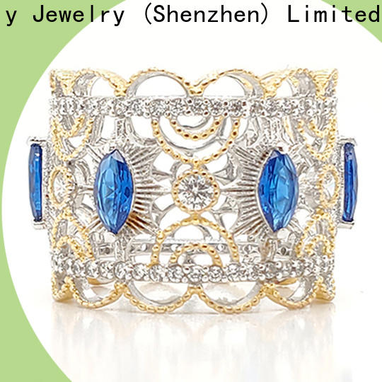 BEYALY Latest pink gold crown ring manufacturers for women