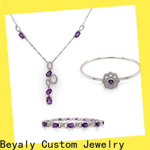 Wholesale jewelry set necklace earrings factory for ceremony