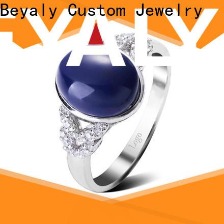 Custom best engagement ring bands plating factory for men