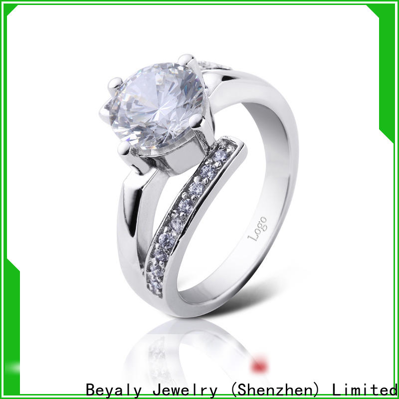BEYALY promise biggest solitaire diamond ring for business for women