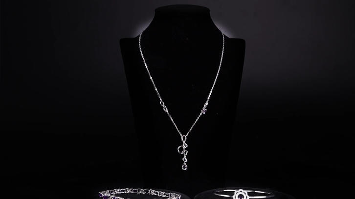 Purple jewelry set