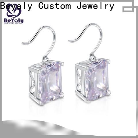 High-quality cz earring letters for business for women