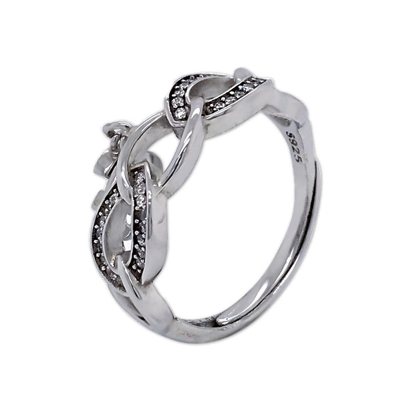 product-fashion 925 sterling silver Weave pendant ring-BEYALY-img-1