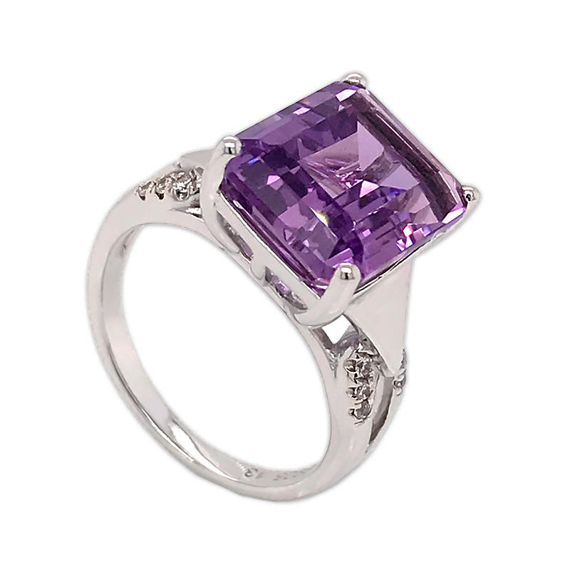 Wholesale Amethyst Gemstone Rings Solid 925 Sterling Silver Engagement ring Jewelry