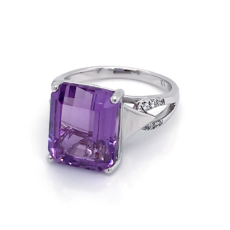 product-Wholesale Amethyst Gemstone Rings Solid 925 Sterling Silver Engagement ring Jewelry-BEYALY-i-1