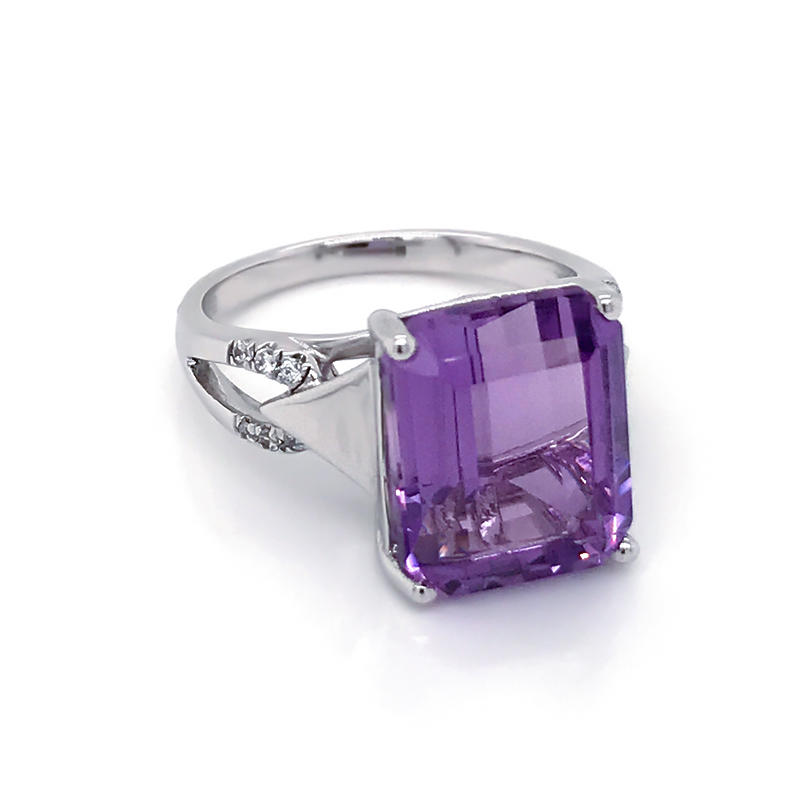 product-BEYALY-Wholesale Amethyst Gemstone Rings Solid 925 Sterling Silver Engagement ring Jewelry-i