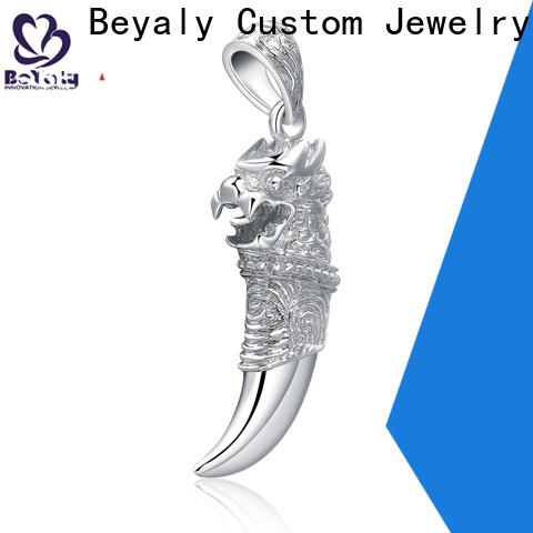 BEYALY wolf 14kt white gold charm bracelet for business