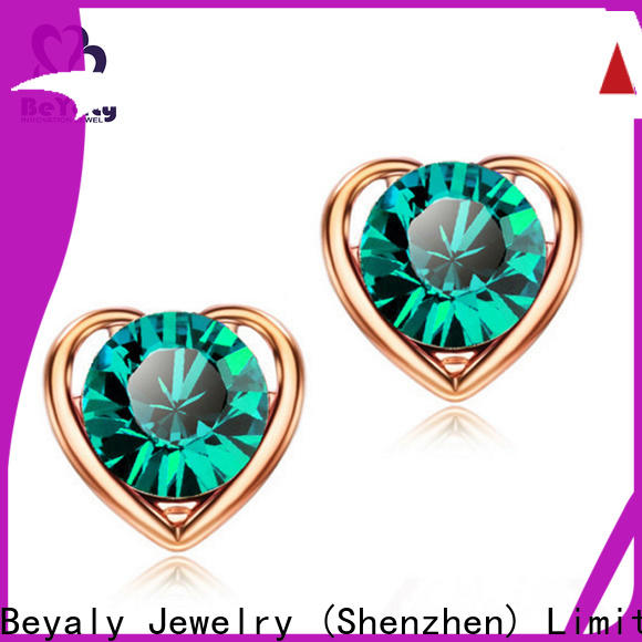 stylish zircon earring clear factory for business gift