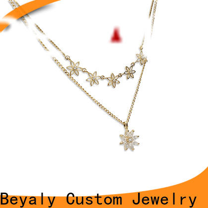 BEYALY disc silver chains womens manufacturers for wife