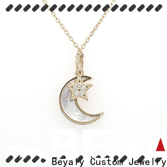 stylish sterling silver circle pendant necklace jewelry Supply for wife
