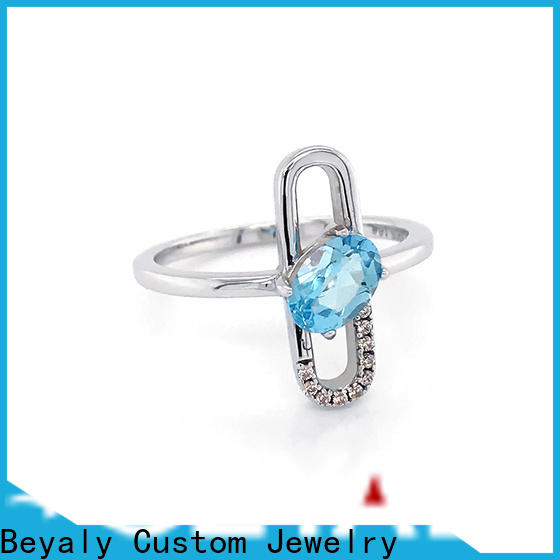 customized hottest engagement rings silver manufacturers for men