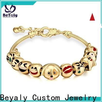 BEYALY Wholesale silver cuff bracelet factory for advertising promotion