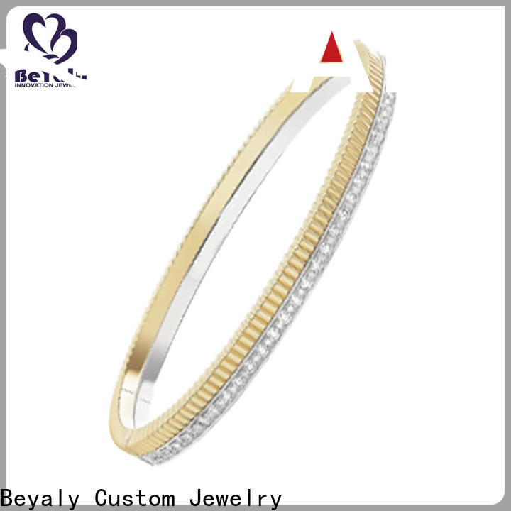 popular solid silver bangles and bracelets colored for business gift