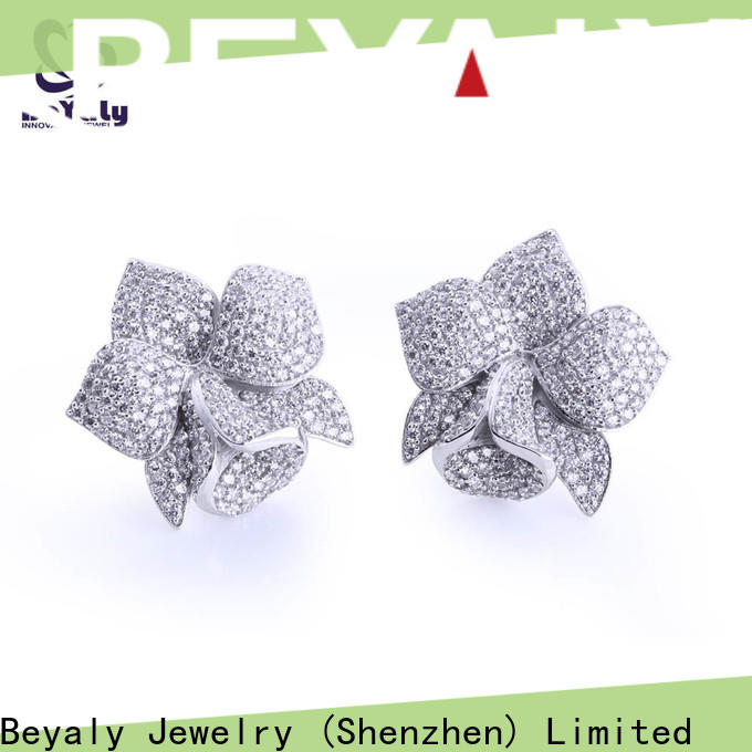 BEYALY popular zircon earring Supply for advertising promotion