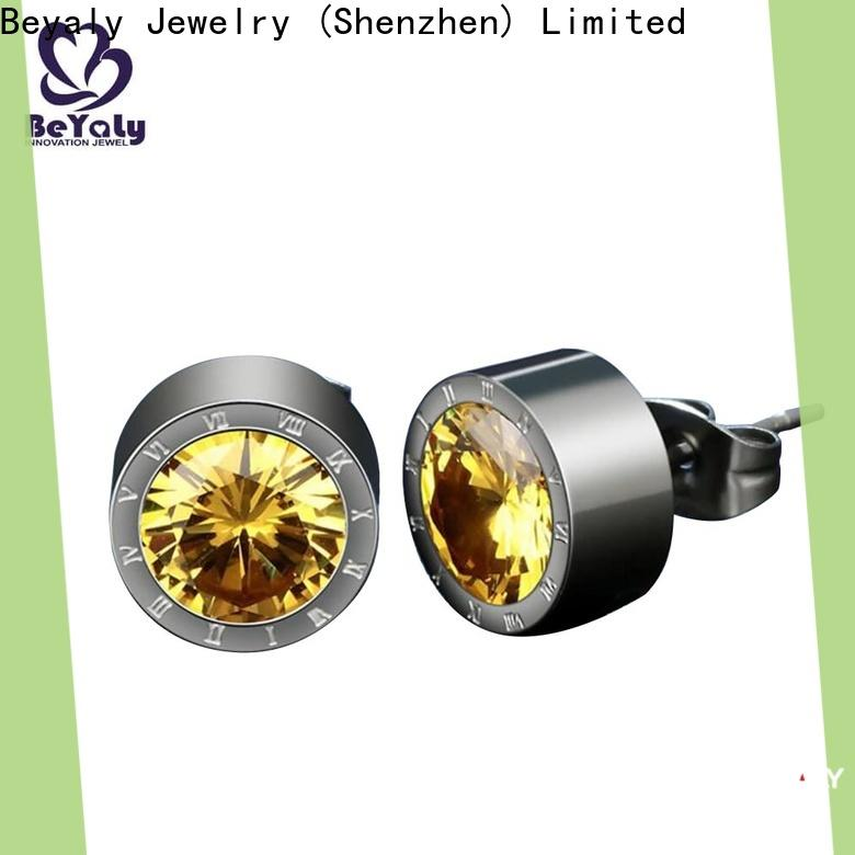BEYALY cz earring company for exhibition