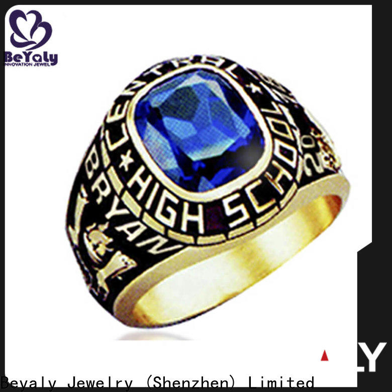 BEYALY plated cheap college rings for men manufacturers for graduated