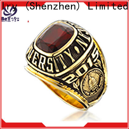 Custom fashion class rings blue Suppliers for graduated