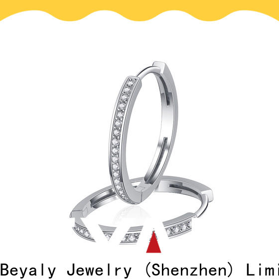 popular white gold diamond earrings prices artificial for business for advertising promotion