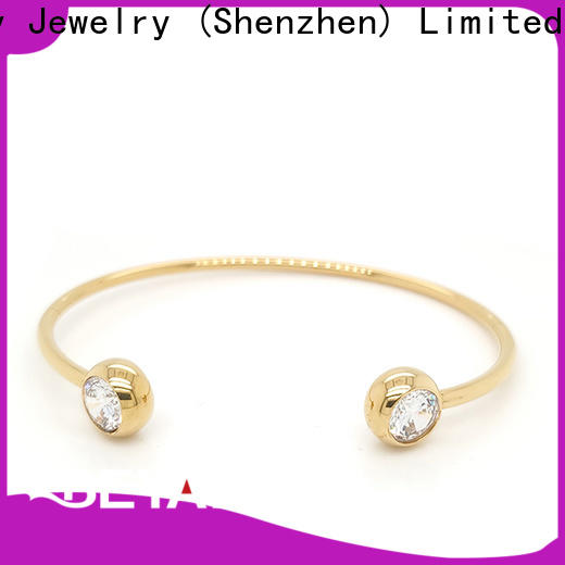 BEYALY screw gold bangle bracelet with circles Supply for advertising promotion