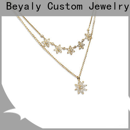 BEYALY silver long gold chain necklace with pendant for wife