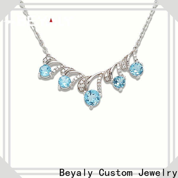 BEYALY Wholesale long gold chain necklace with pendant factory for girls