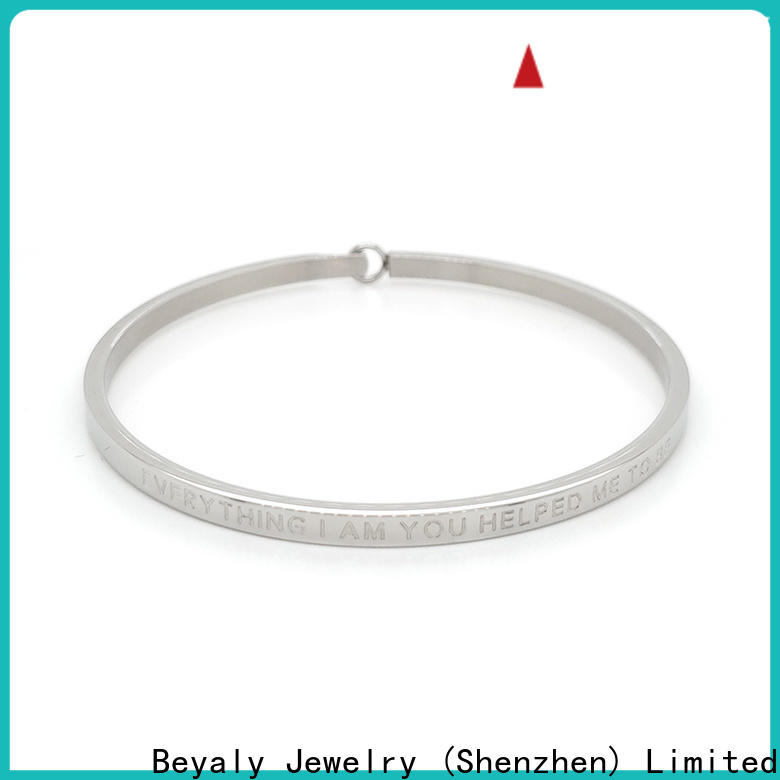 New silver gold bracelets jewelry fashion Supply for business gift