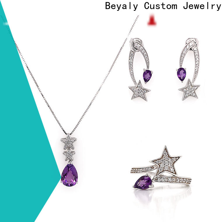 BEYALY jewelry sets necklace earrings and bracelet Suppliers for ceremony