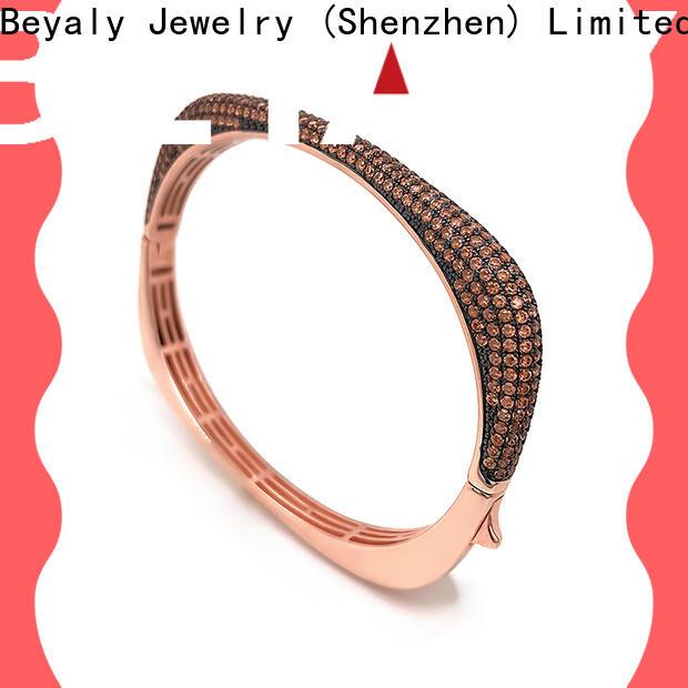 BEYALY fashion black and gold bangle bracelet factory for advertising promotion