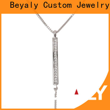 High-quality sterling silver circle pendant necklace beauty for girls