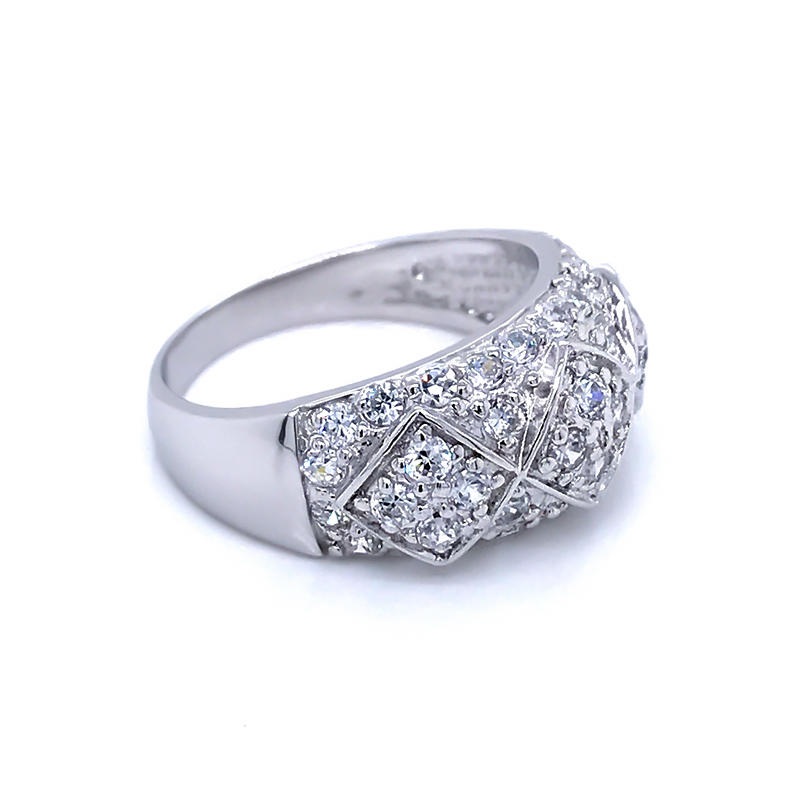 product-latest design diamond shape ladies white gold plated finger rings jewelry-BEYALY-img-1