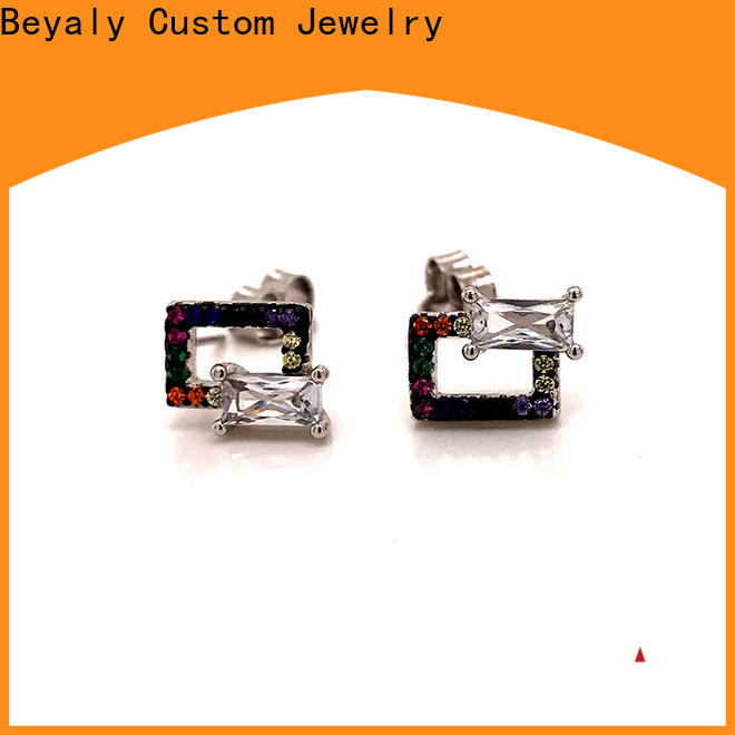 BEYALY New cubic zirconia earrings Supply for exhibition