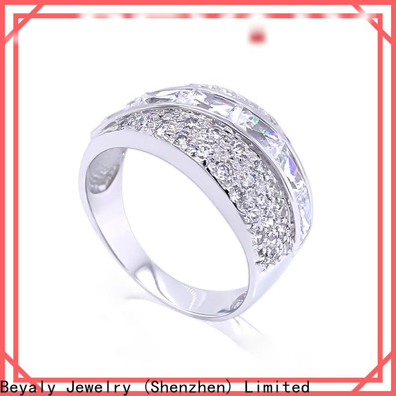 Best sterling silver cubic zirconia rings zircon factory for men