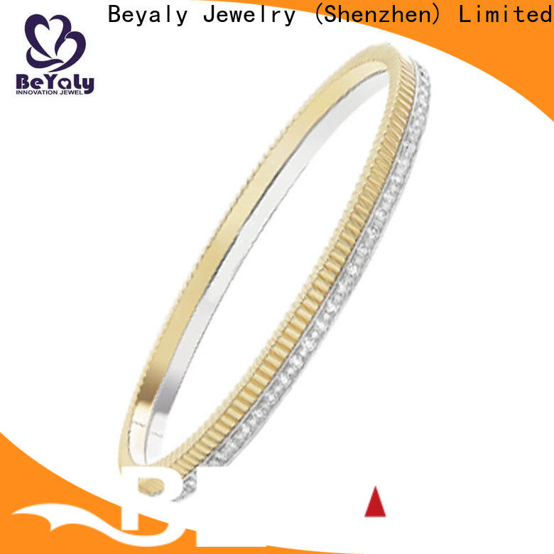Latest rose gold charm bangle engraved Suppliers for business gift