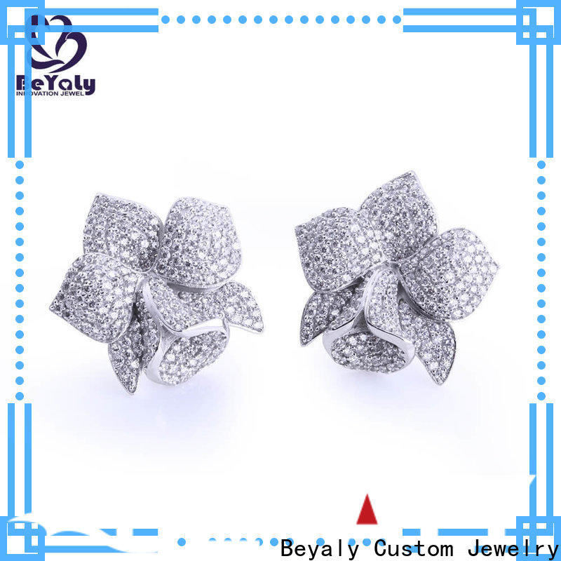 classic silver circle stud earrings 925 for advertising promotion