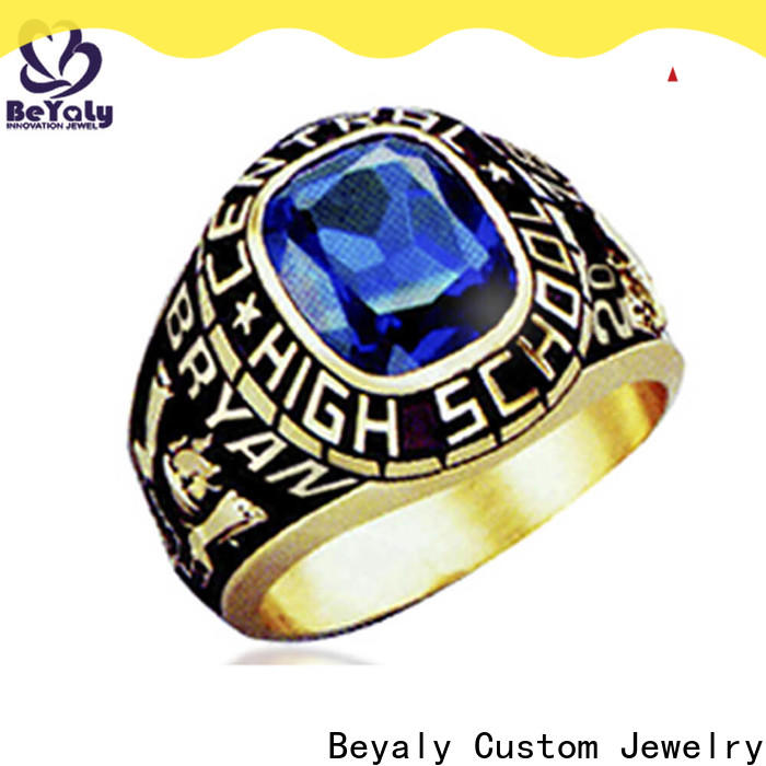 Wholesale high school senior class rings gold company for university students