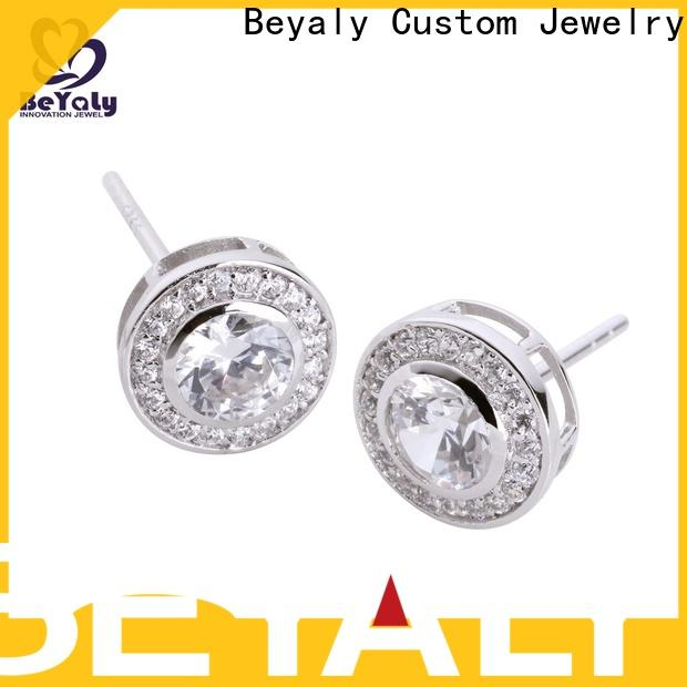 BEYALY feather small silver hoop earrings factory for women