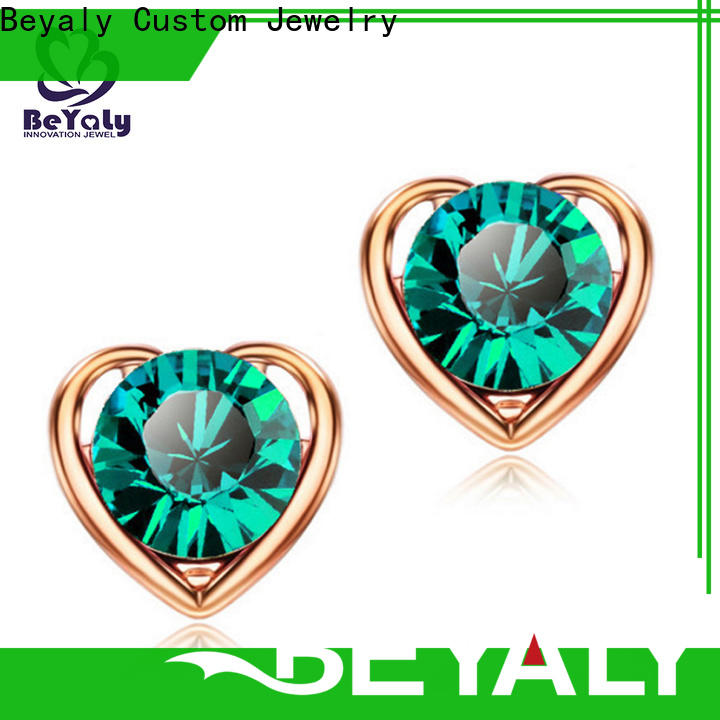 Custom small diamond stud earrings for cartilage shape Supply for business gift
