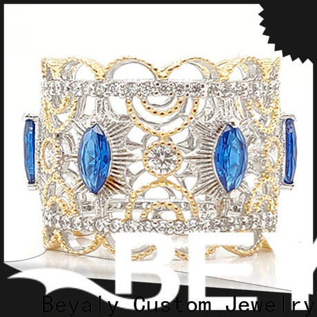 BEYALY Wholesale real gold princess crown ring company for wedding