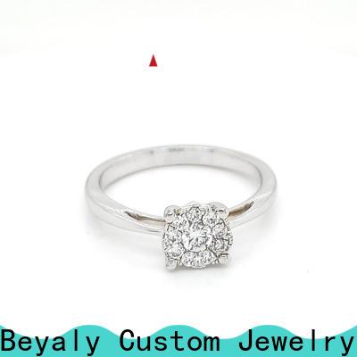Custom popular ring designs plated company for wedding
