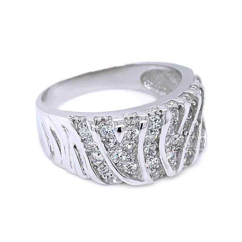 product-2020 latest geometry design zircon ladies gold plated finger Ring-BEYALY-img-1