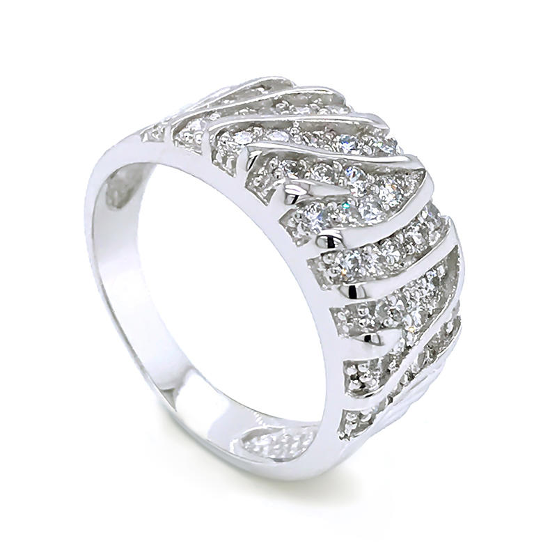 2020 latest geometry design zircon ladies gold plated finger Ring