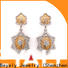BEYALY blooming circle earring for business for women