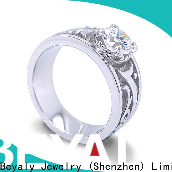 BEYALY inlay most popular diamond engagement rings Suppliers for daily life